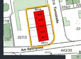 livicsbau Zirndorf Reihenhäuser Lageplan